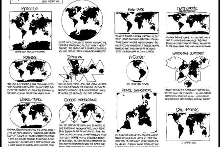 Map projections poster xkcd map projections gumiabroncs Image collections