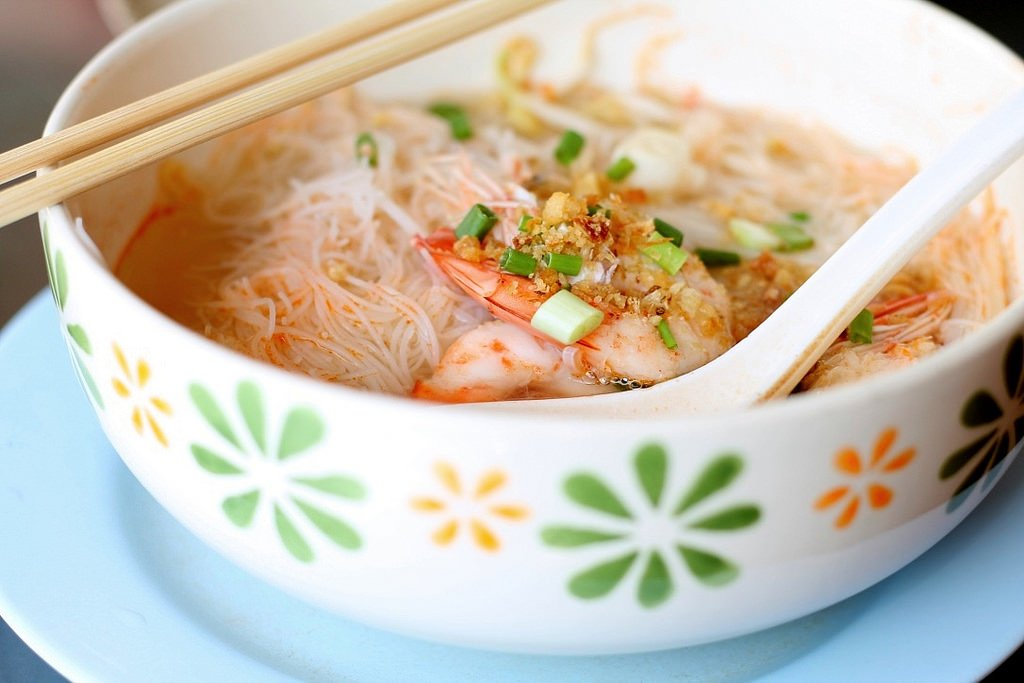 Shrimp noodle soup, Bangkok