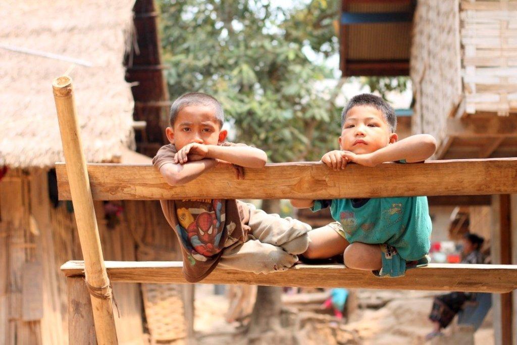 Children in Ban Baw village