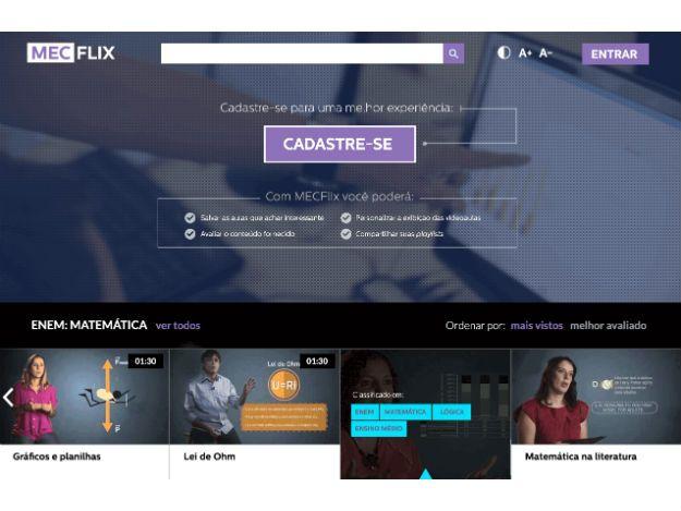 Governo Federal, em clima de despedida, lança plataforma educacional Mecflix