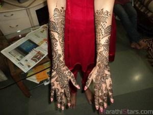 Anuja Sathe Mehendi Photos