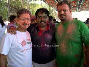 Kaushal Inamdar & Yatin Talaulikar celebrating Holi