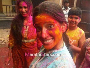 Priya Bapat Holi Photos
