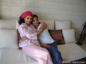 Shriya Pilgaonkar with Supriya Pilgaonkar