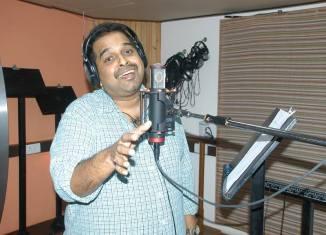 Shankar Mahadevan records a song for Candle March
