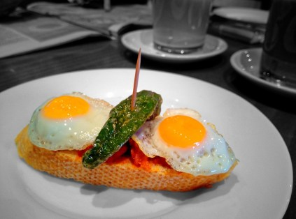 pinxo con huevos