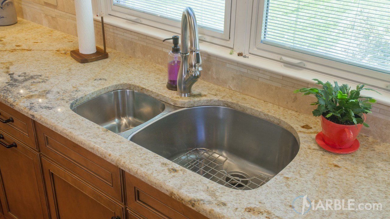 kitchen granite countertop Giallo Sevilla Kitchen Granite Countertop