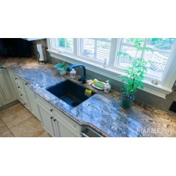 Small Crop Of Blue Granite Countertops