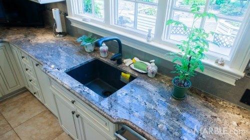 Medium Of Blue Granite Countertops