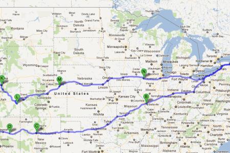 us road trips roadtrip webmap road trip map
