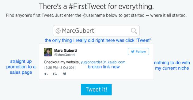 MarcGuberti First Tweet