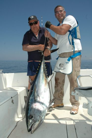 Un tonno catturato alla fine di luglio 2015