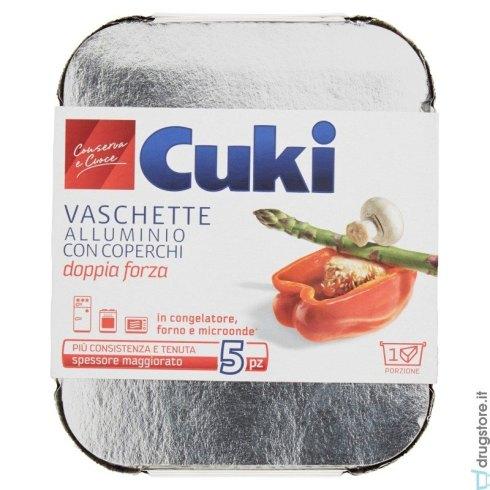 Le classiche cvaschette in alluminio con coperchio offrono un ottima conservazione in congelatore