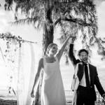 Mariage Réunion Ma Régisseuse wedding planner cérémonie laïque plage filaos happiness