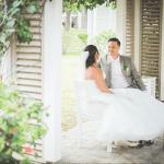 mariage, robe, nature,