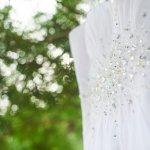 mariage, robe, nature