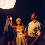 mariage, lanterne, nuit, réunion,