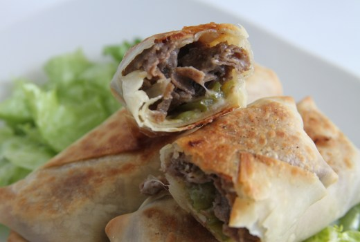 Cheese-steak-Egg-Roll