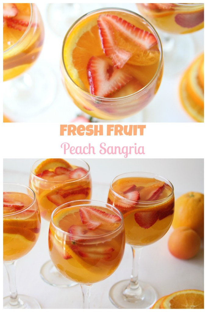 Fresh Fruit Peach Sangria