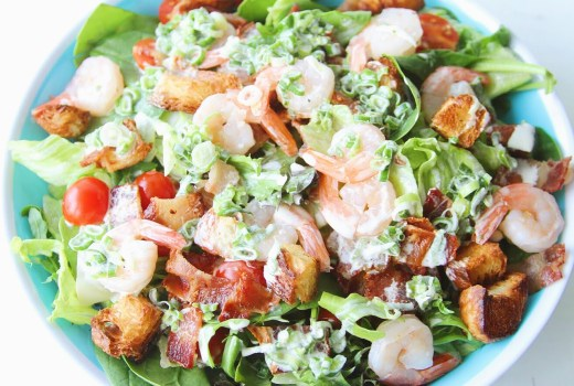 Shrimp Club SaladPinspiration: Shrimp Club Salad