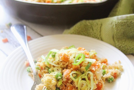 Cut the carbs with my Cauliflower Fried Rice! Same great taste without the guilt.
