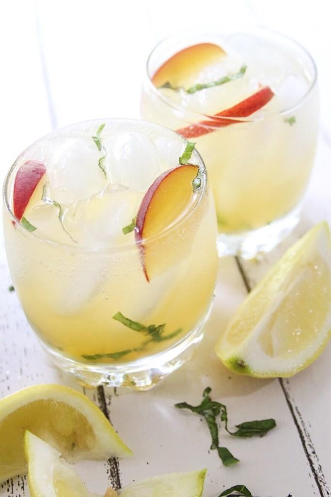 Tropicana Peach Basil Smash Cocktail