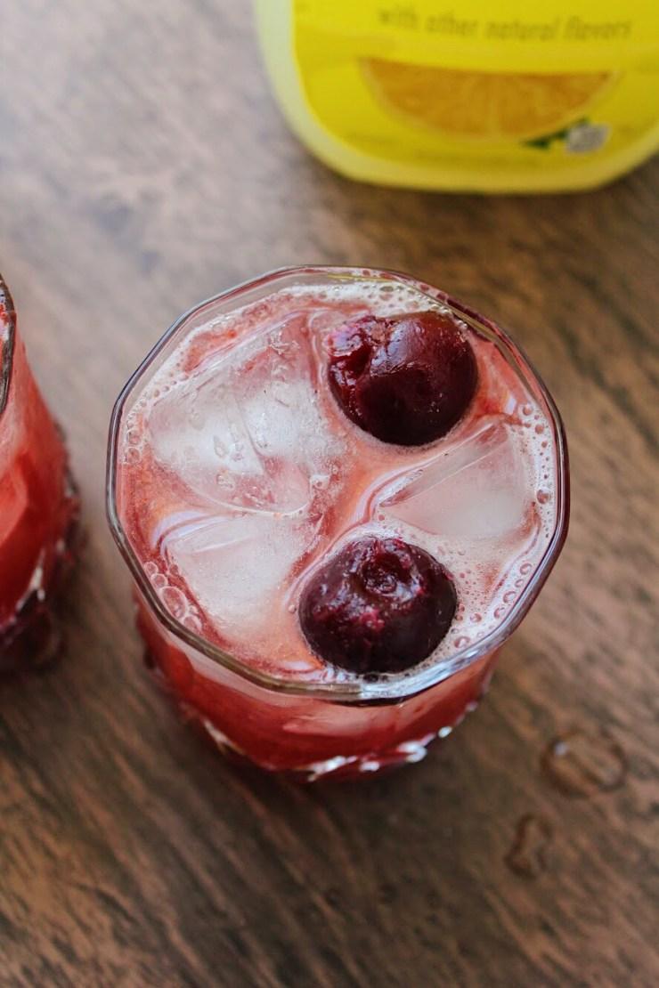 Sparkling Black Cherry & Vanilla Bourbon Lemonade