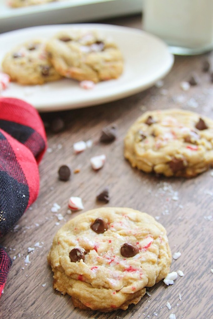 The Peppermint Chocolate Chip Brown Sugar Cookies are moist, soft, and chewy. The mix of mint and chocolate is perfect! These sugar cookies are made with brown sugar which makes them extra soft.