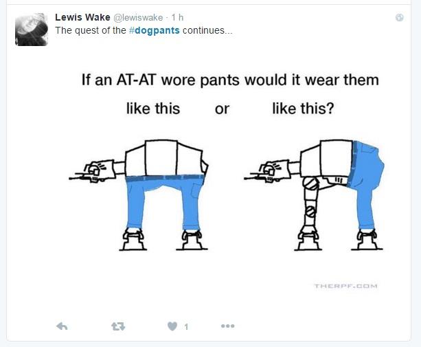 pantalones perro starwars