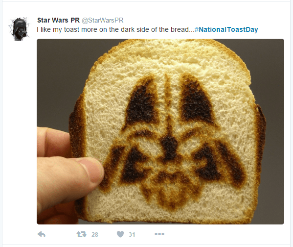 toast star wars