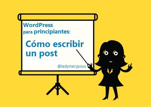Como escribir un post en WordPress
