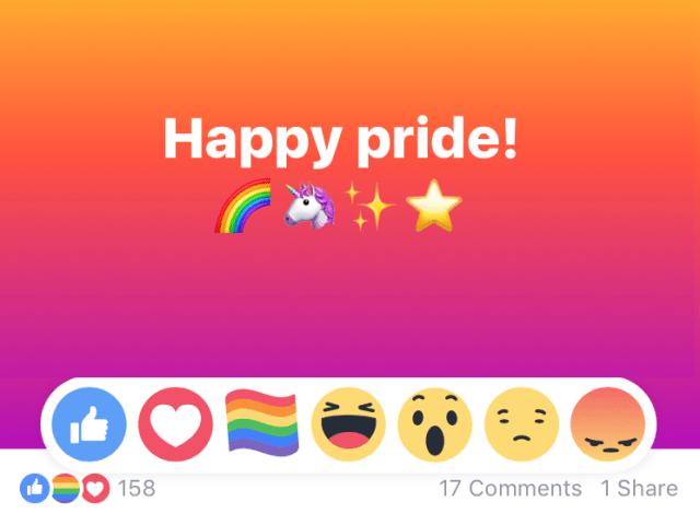 Facebook añade un botón LGBT con motivo del Pride 2017 | Maria en la red