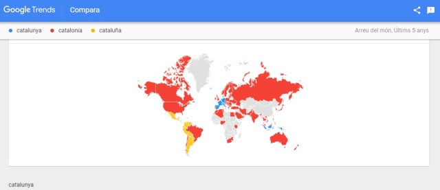 Google Trends catalunya distribució mundial