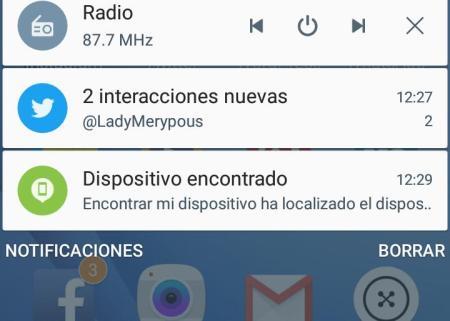 Aviso del rastreador de móvil en Android