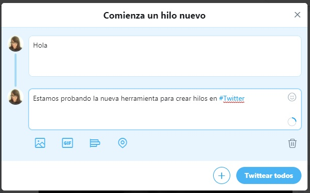 Hilos en Twitter | Maria en la red