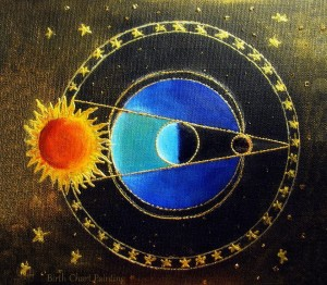 Birth chart paiting lunar eclipse