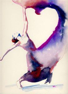 Watercolor - Fashion Illustration Print - Desconheço o autor - Reprodução