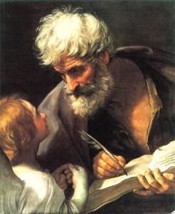 """""""O Velho Sábio"""" - São mateus e o anjo, de Guido Reni - Reprodução"""