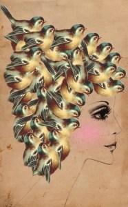 Dollfacedesign Surreal Collage Art - Reprodução