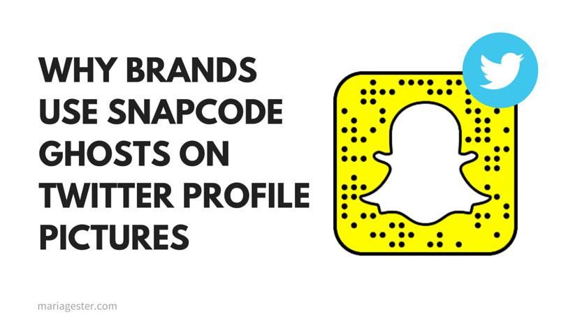 Why brands use Snapcode ghosts on Twitter profile pictures