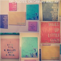 DIY- Wall Art QUOTES