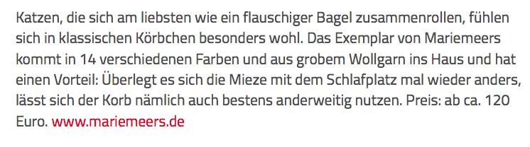 mariemeers Text auf schoener-wohnen.de
