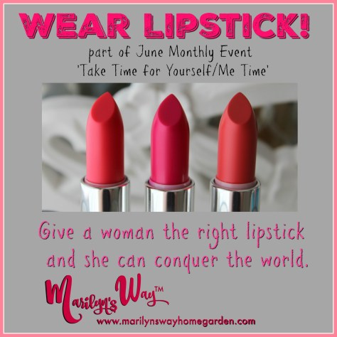 Many of the greats got through many situations simply by putting on some fresh lipstick and to begin again.