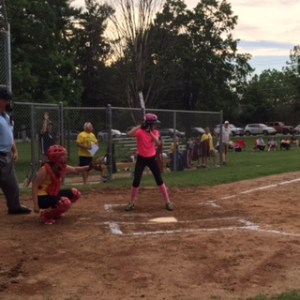 emily at the plate