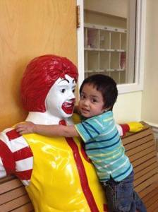 ronald and kid