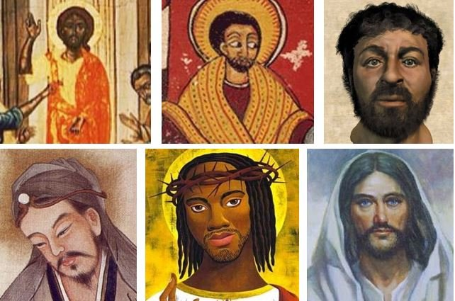 Jesus christ has been painted to look like the people where the artist