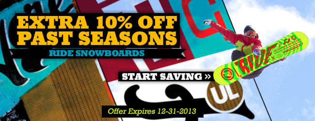 Extra 10% Off Past Seasons Ride Snowboards - Start Shopping »