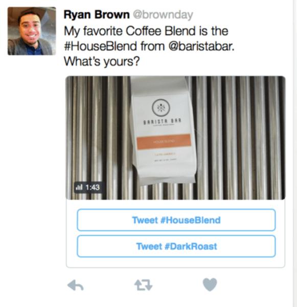 twitter conversational ad share