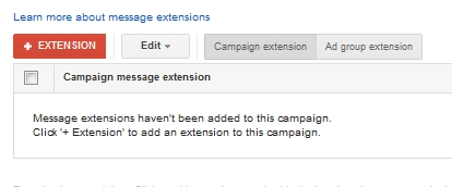 create message extension