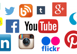 A mixture of social media icons